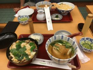 udon set meal at Dotonbori Imai