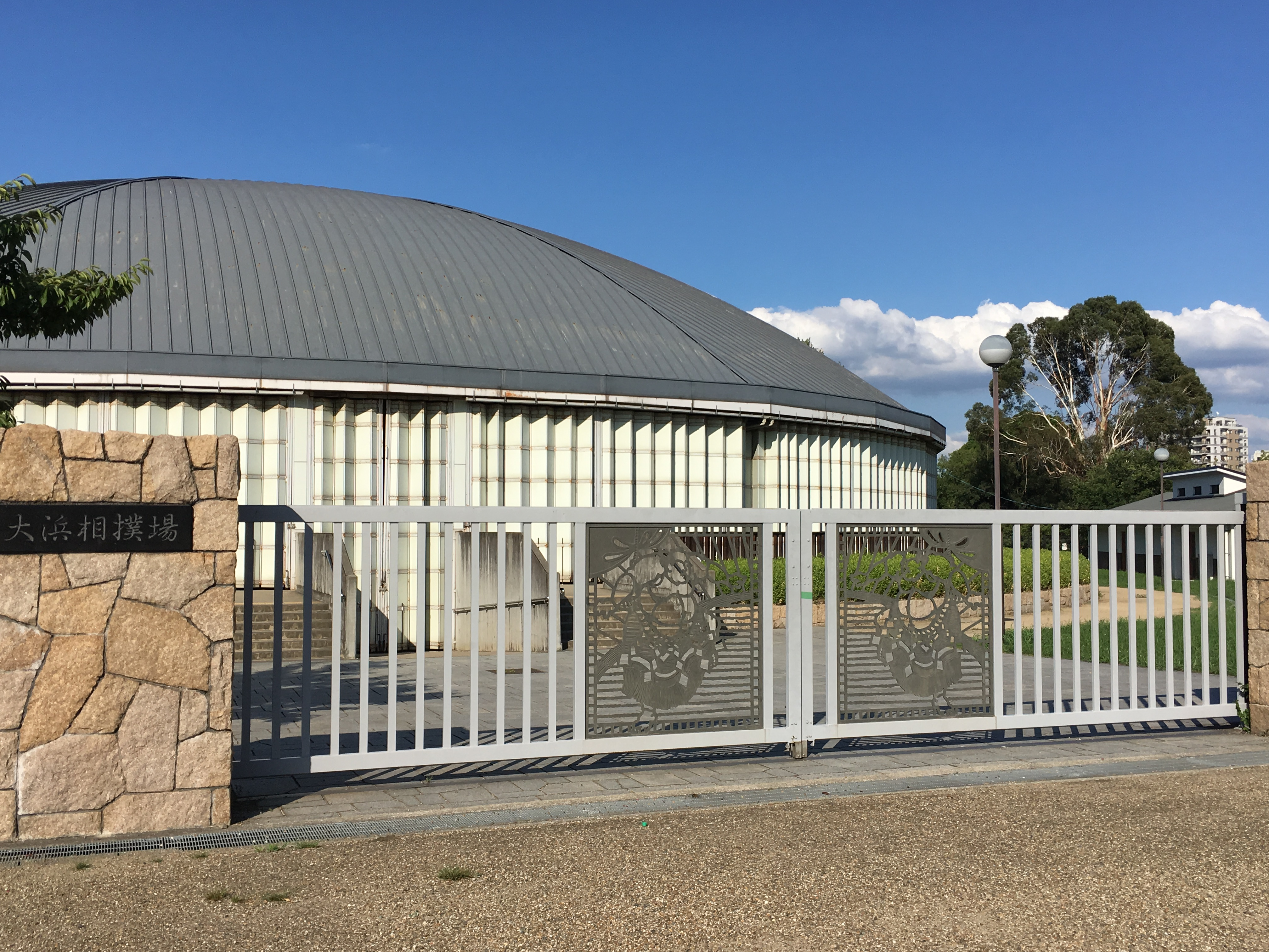 closed gates outside of youth sumo ring