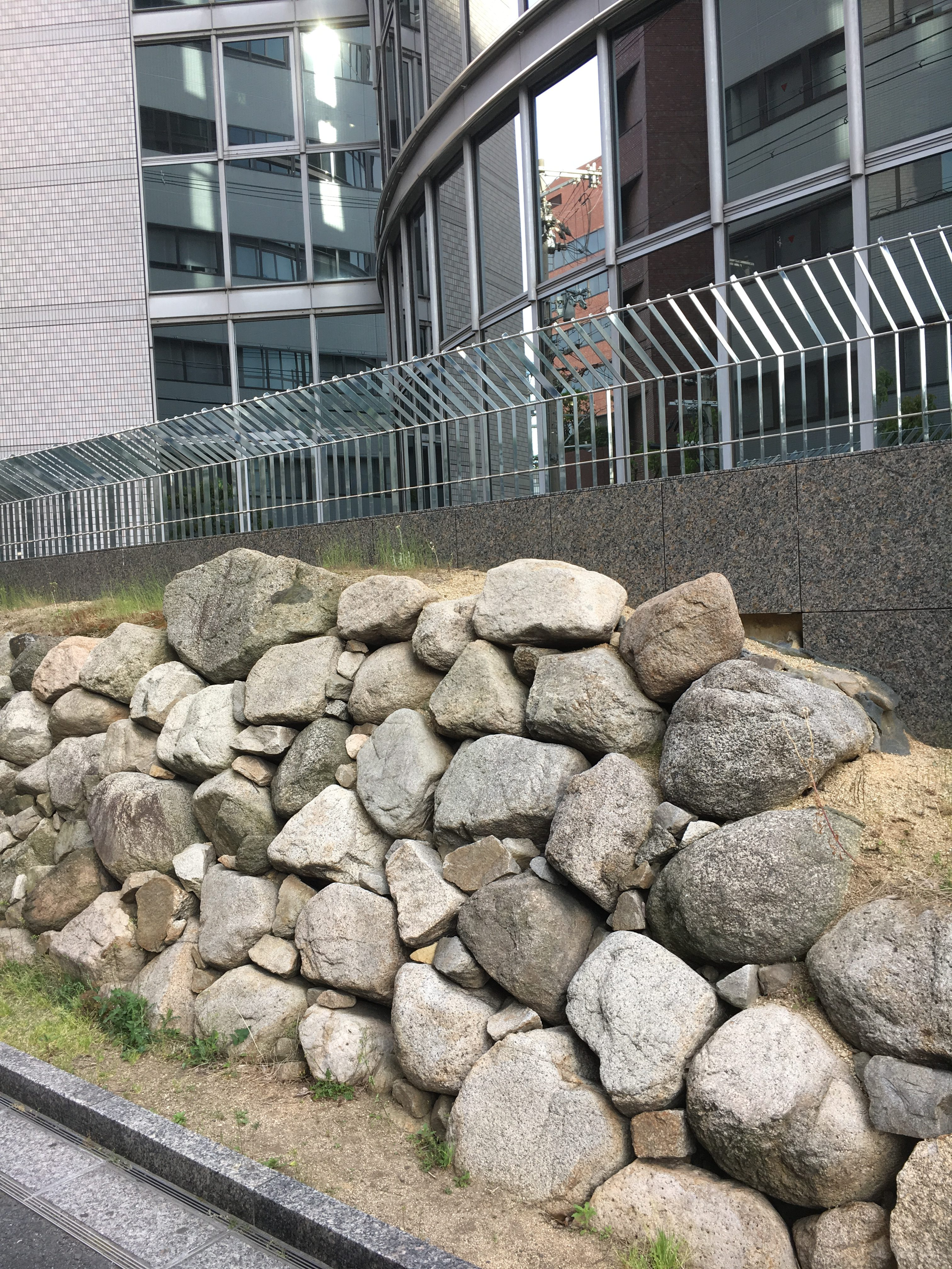 historically valuable remains of Osaka Castle wall