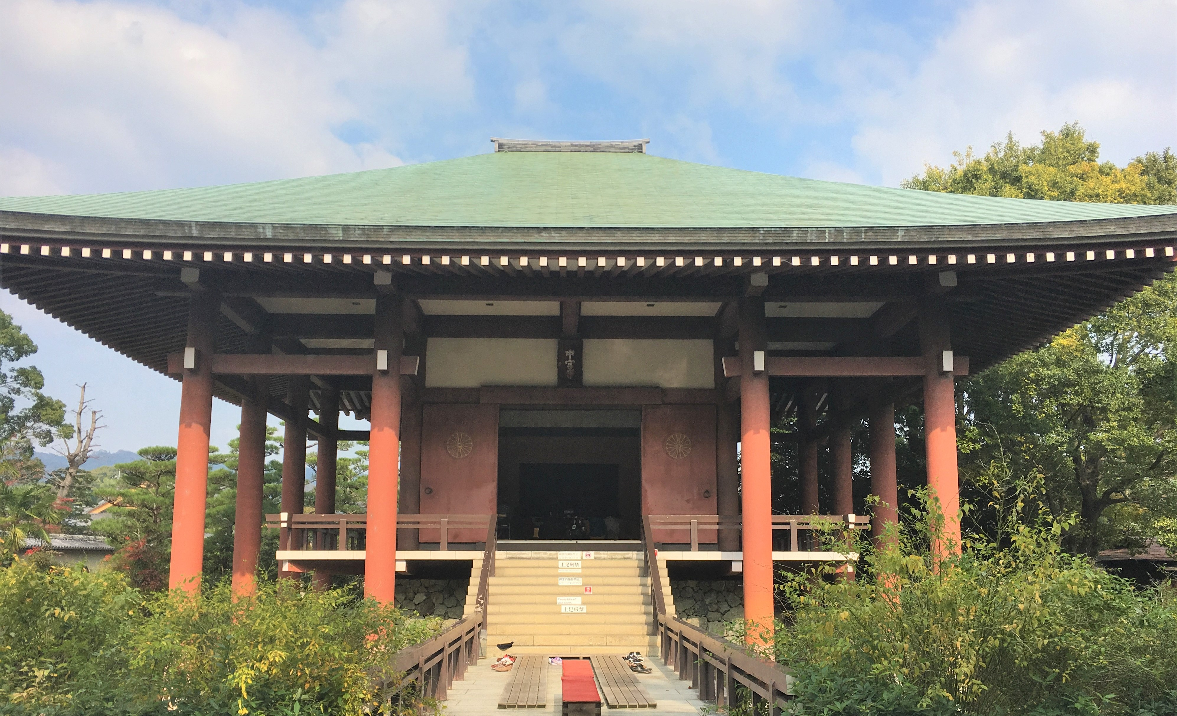 main structure of the Chugu-ji near Horyu-ji's To-in Garan