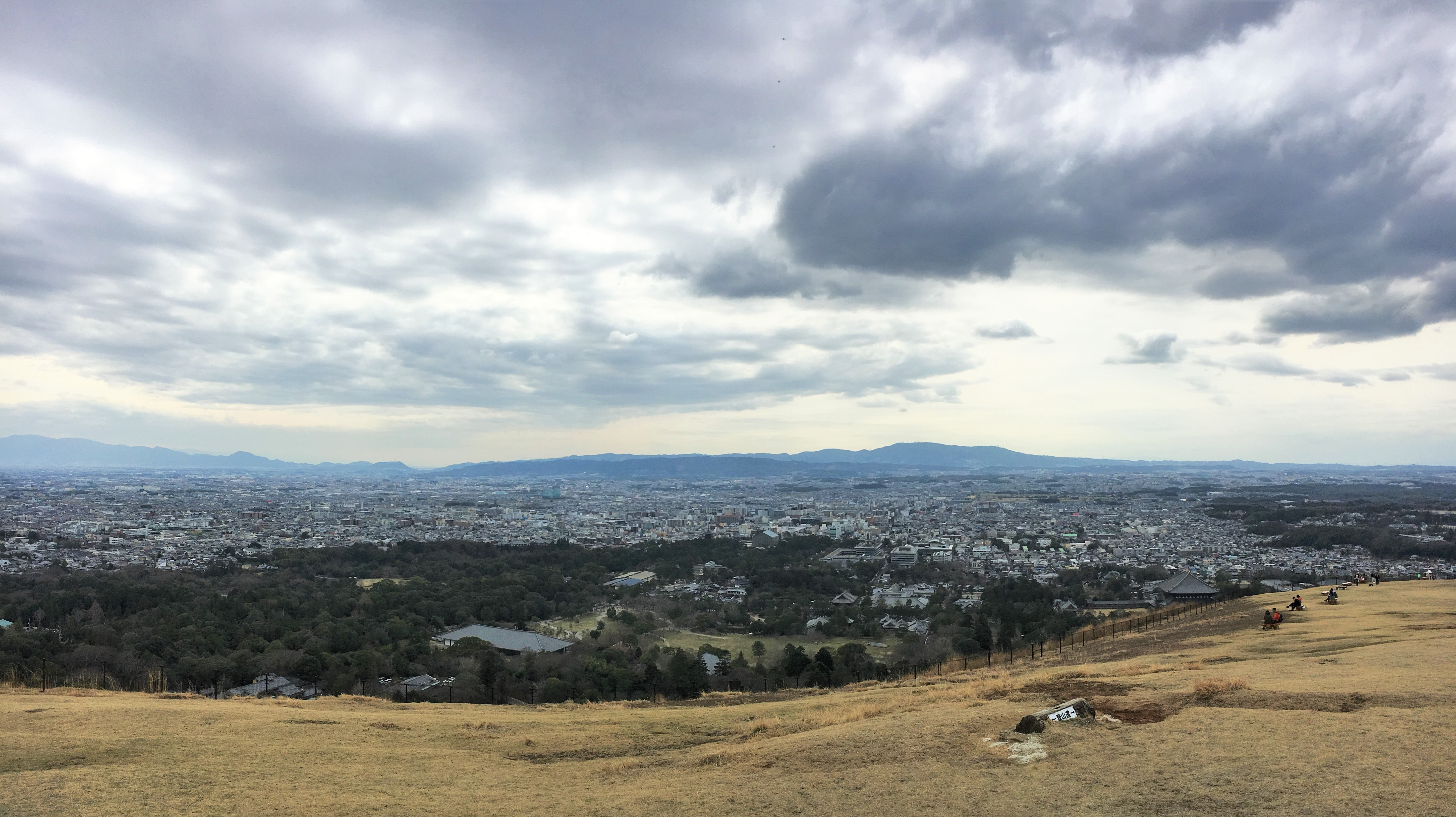 panoramic view from the top of mt wakakusa overlooking the city of Nara