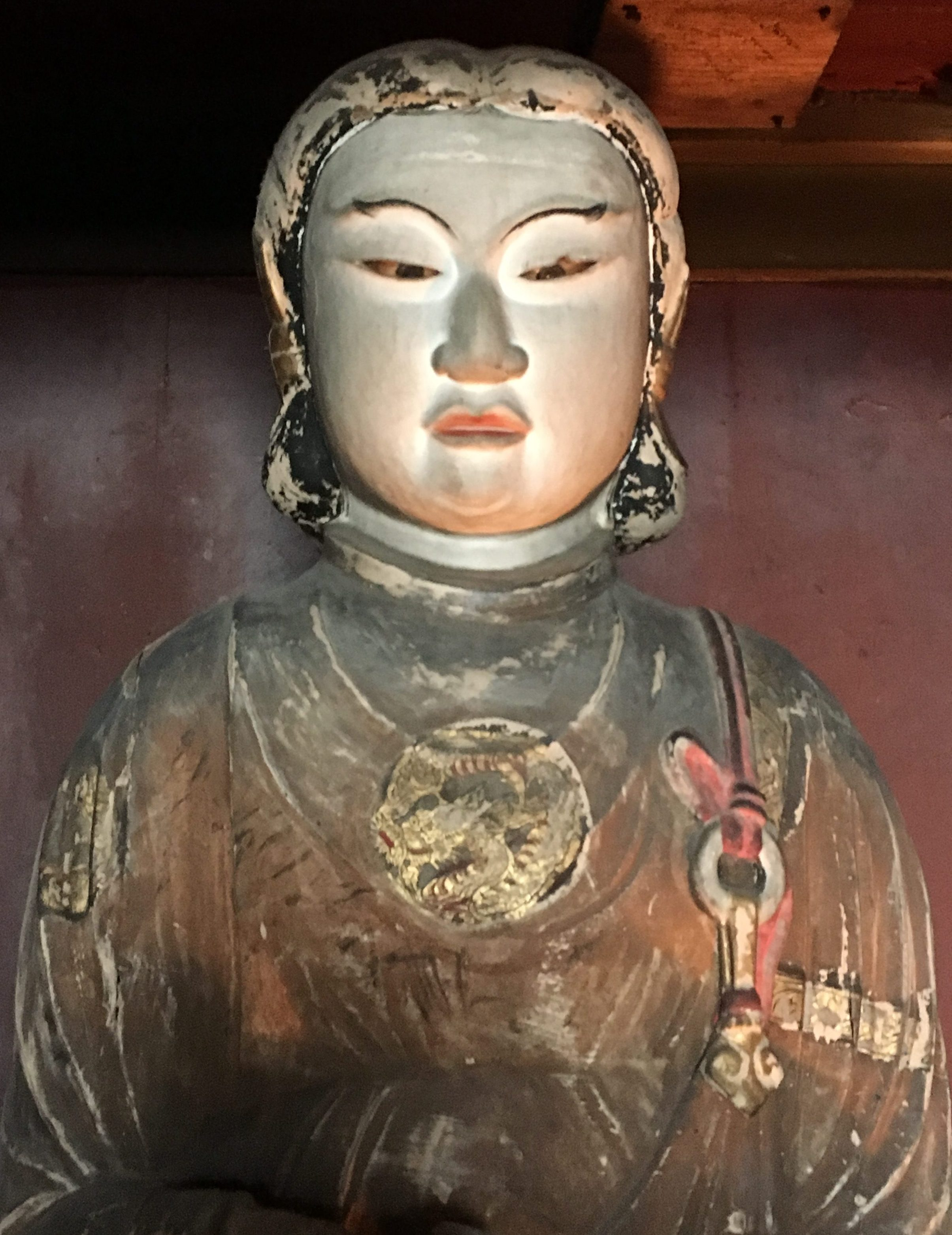 wooden statue of prince shotoku