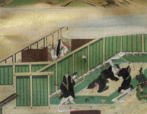 painting of the assassination of Soga no Iruka