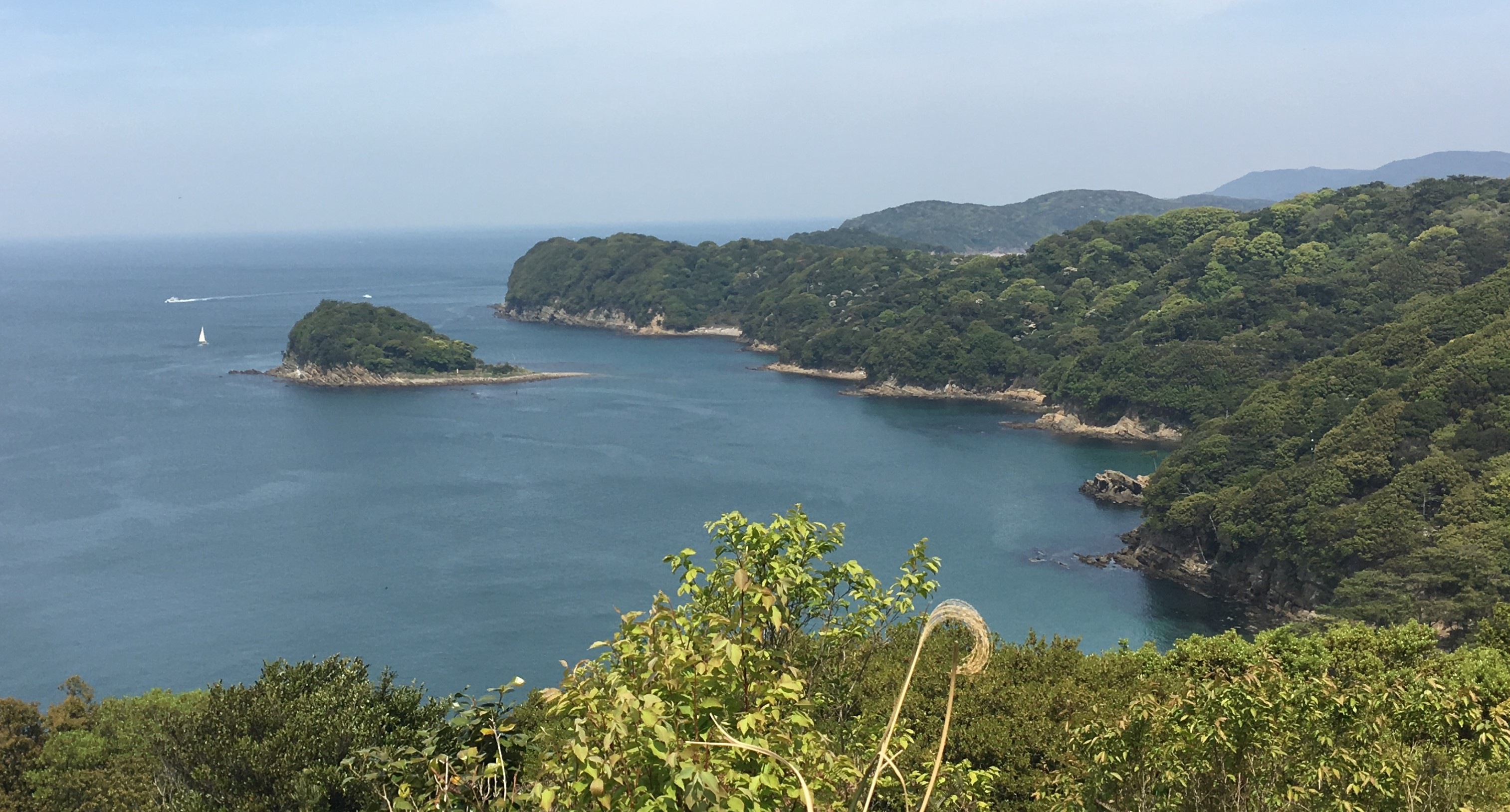 coast line of Okinoshima with kamishima visible in the background