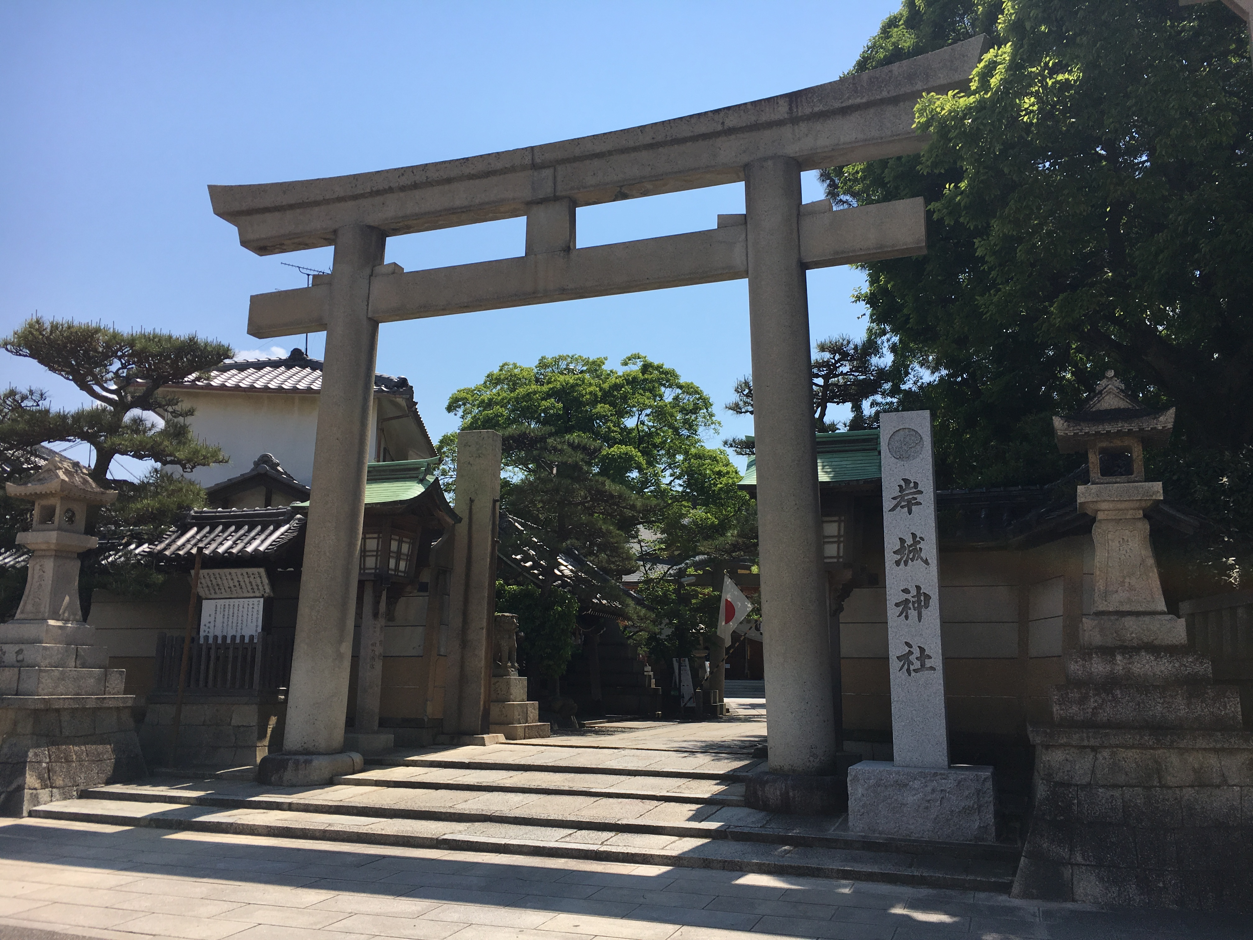 Kishigi shrine in next to kishiwada castle