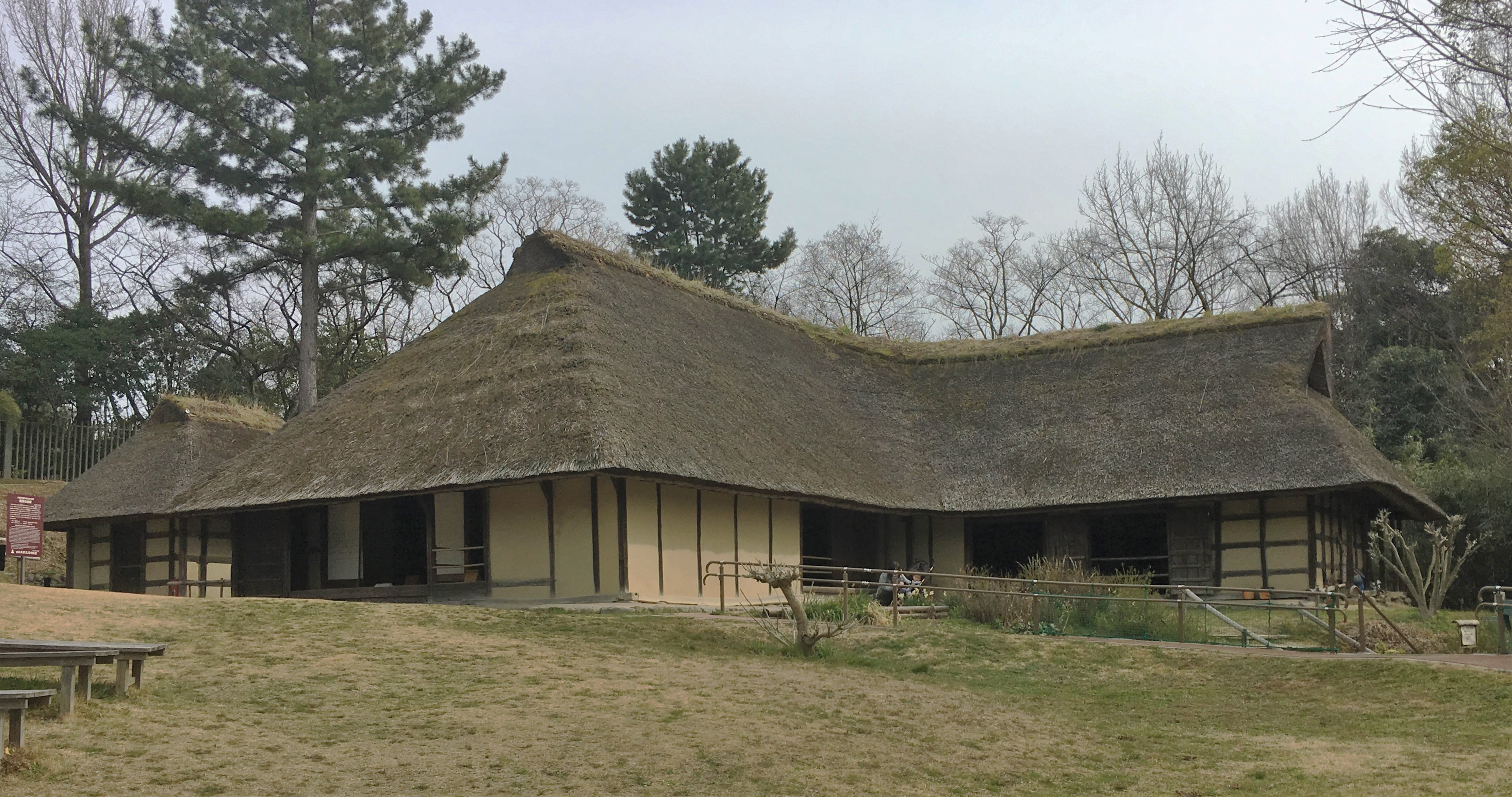 Magariya farmhouse from Iwate in the Open-air museum of old Japanese farmhouses