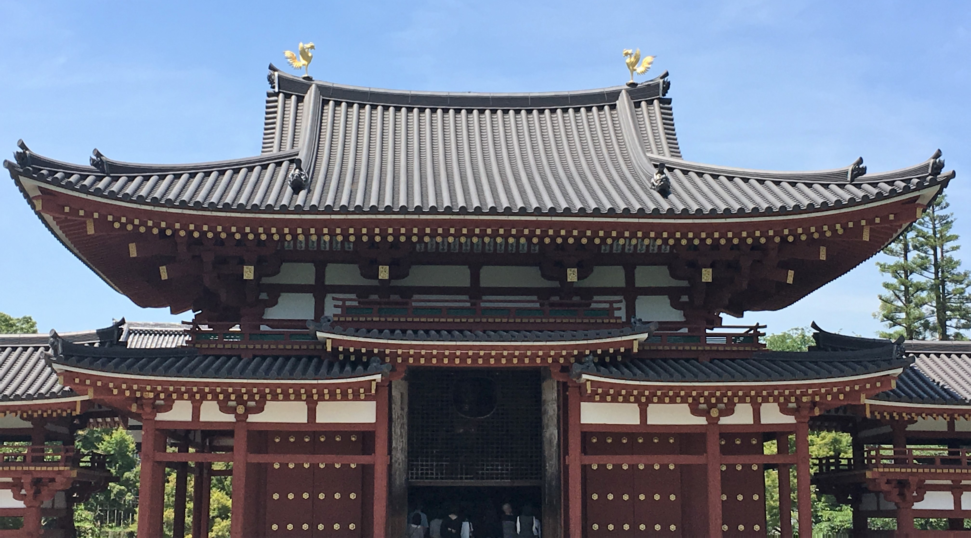 front of Byodoin Temple Hooudo Phoenix Hall