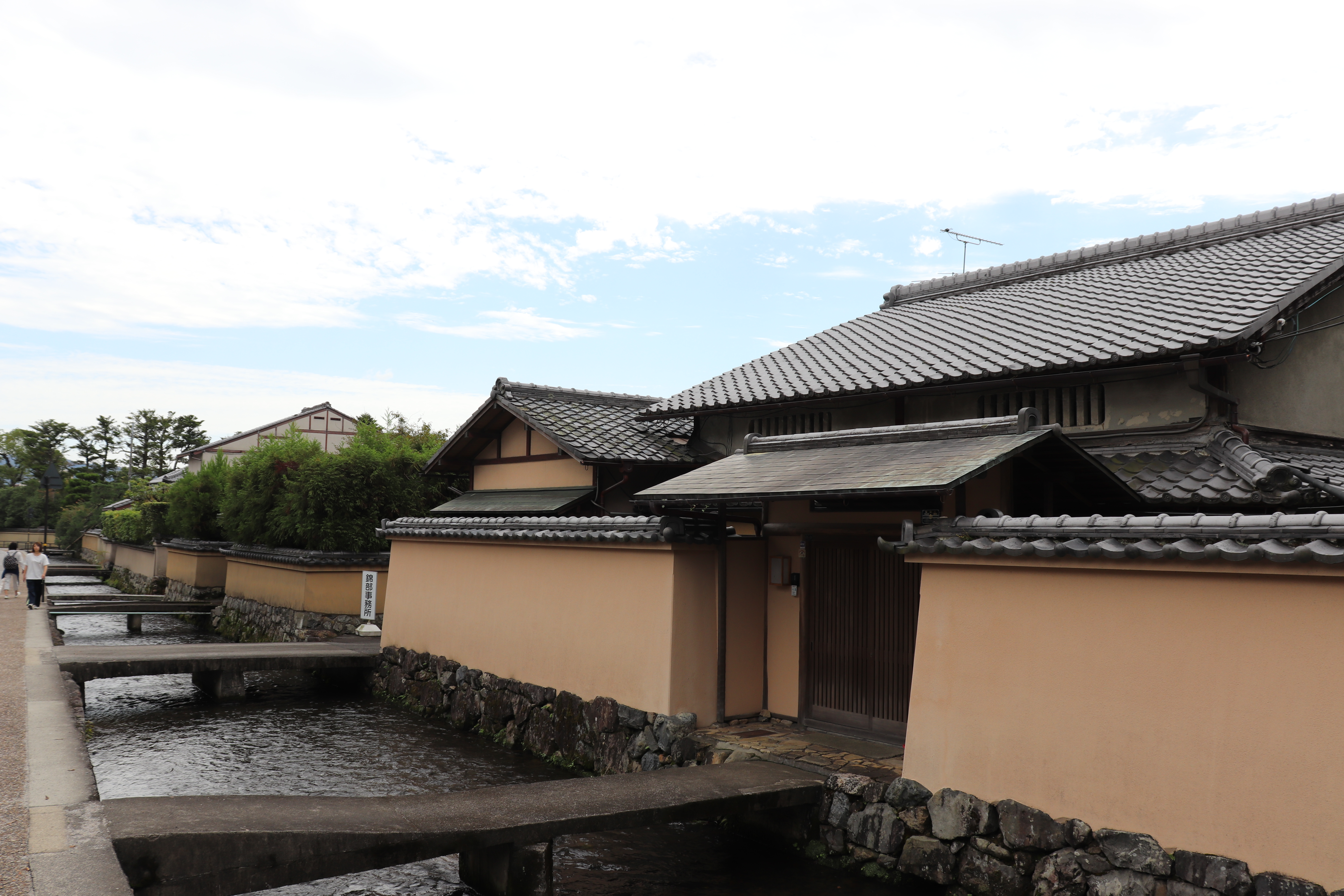 collection of traditional style Japanese shinto priest homes near Kamigamo Shrine