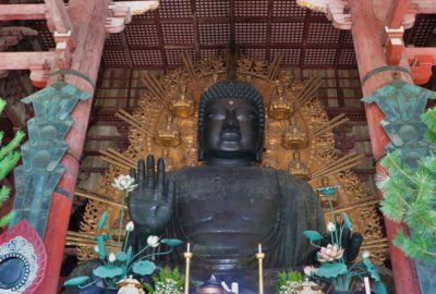 The daibutsu of todai-ji temple in nara