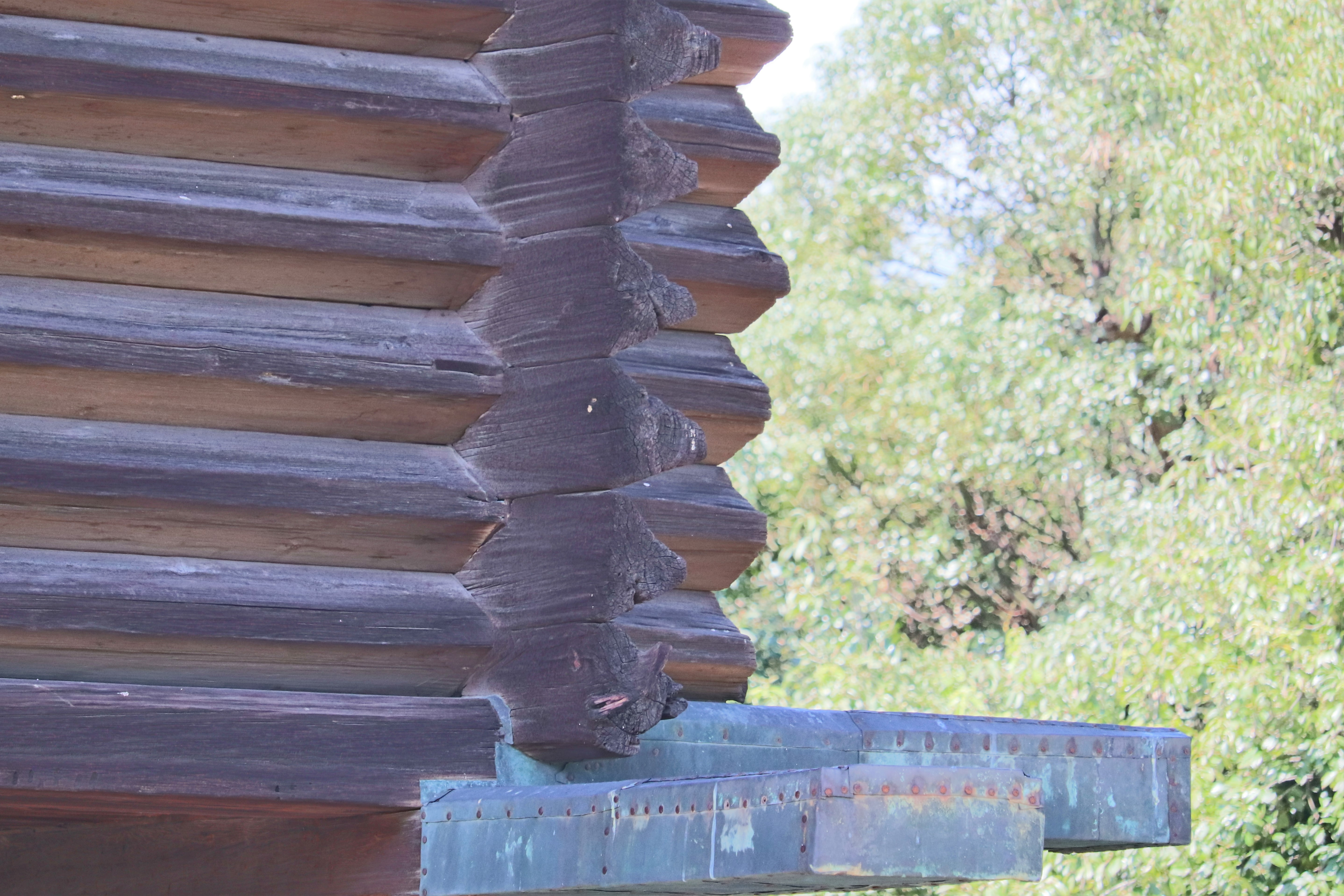 characteristic triangle shaped joined logs of the shoso-in at todai-ji temple