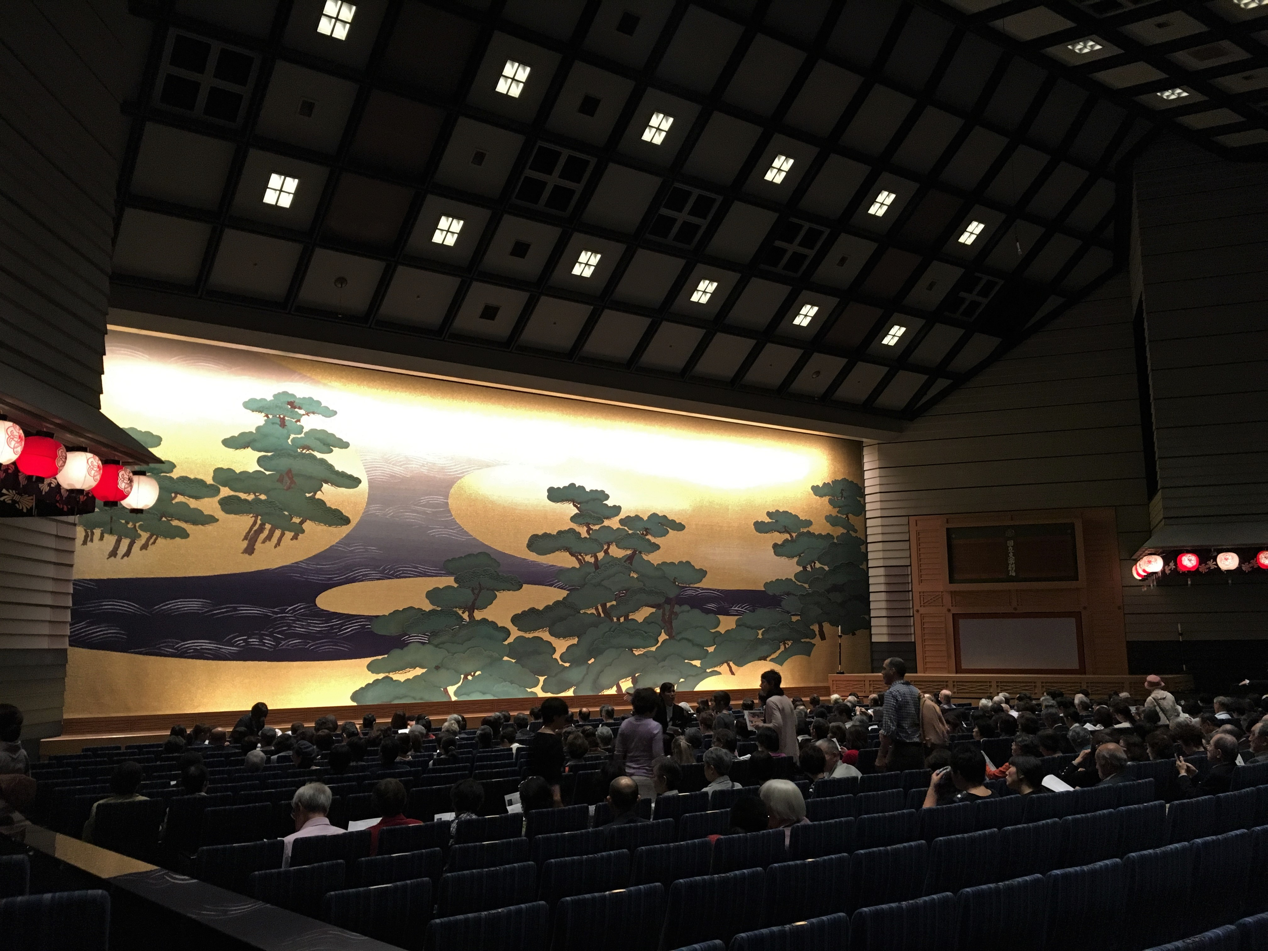 inside the national bunraku theatre