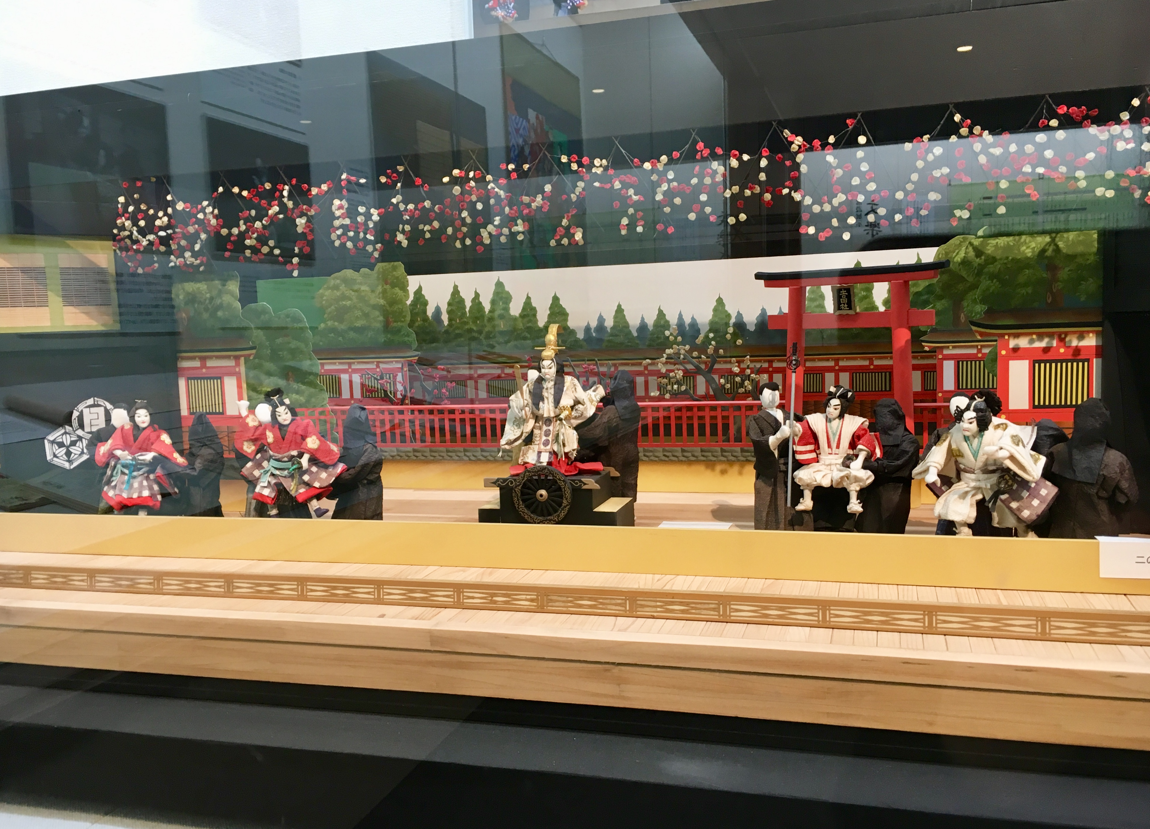 model of a bunraku stage