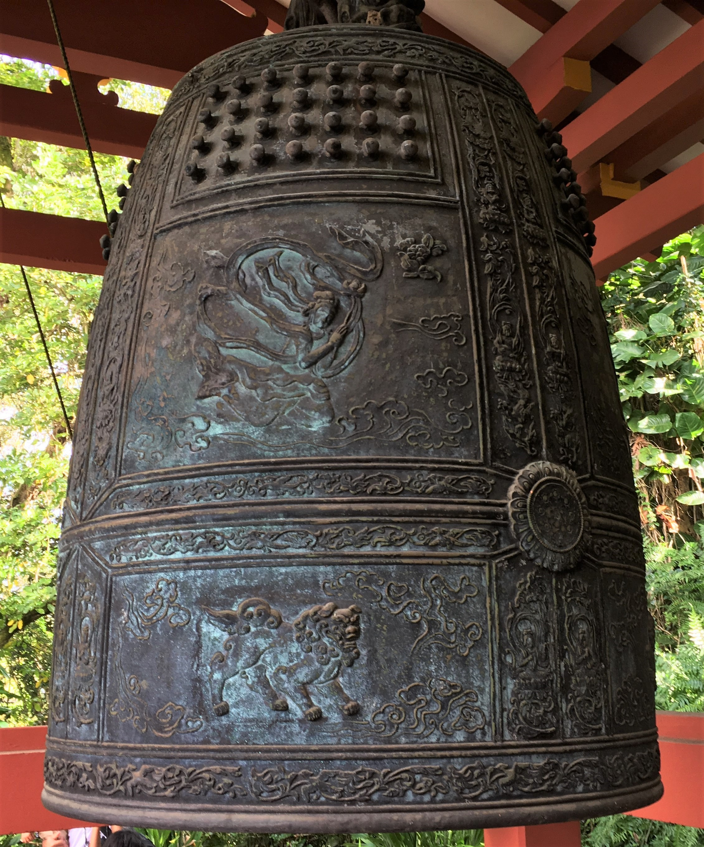 Temple bell of Hawaii's Byodo-in Temple