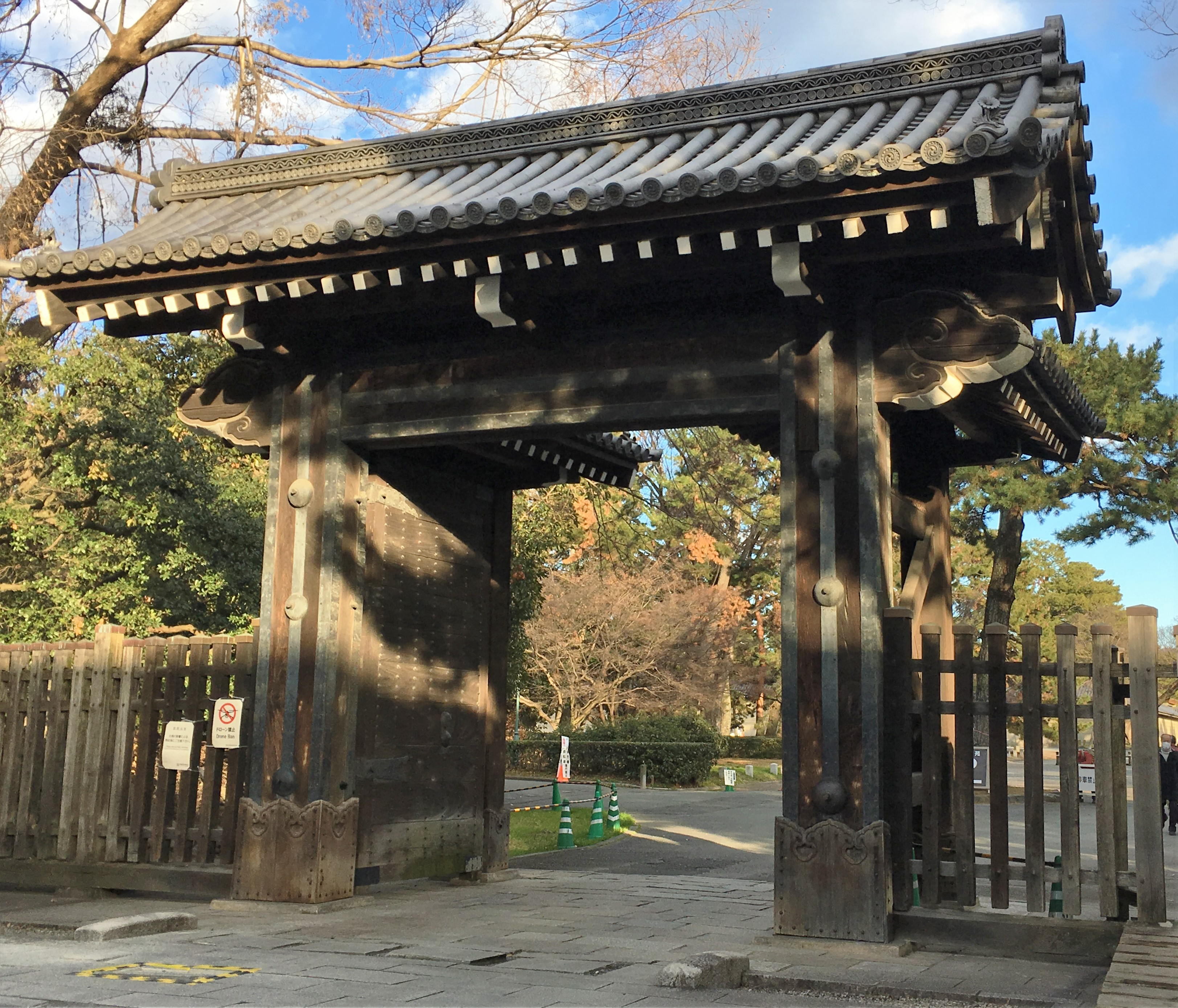 Kimon gates of Kyoto Imperial Palace