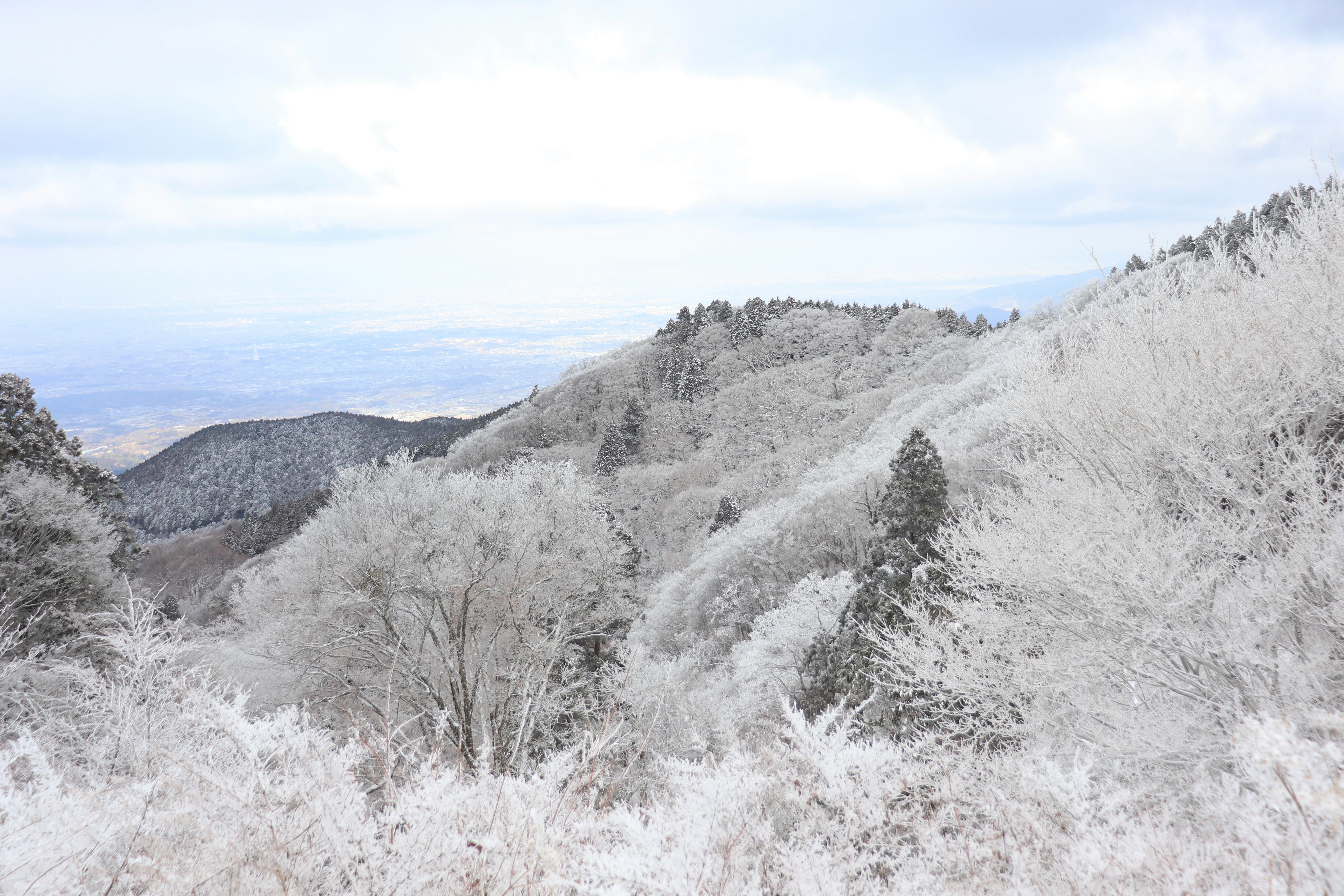snowy view from the top of mount kongo