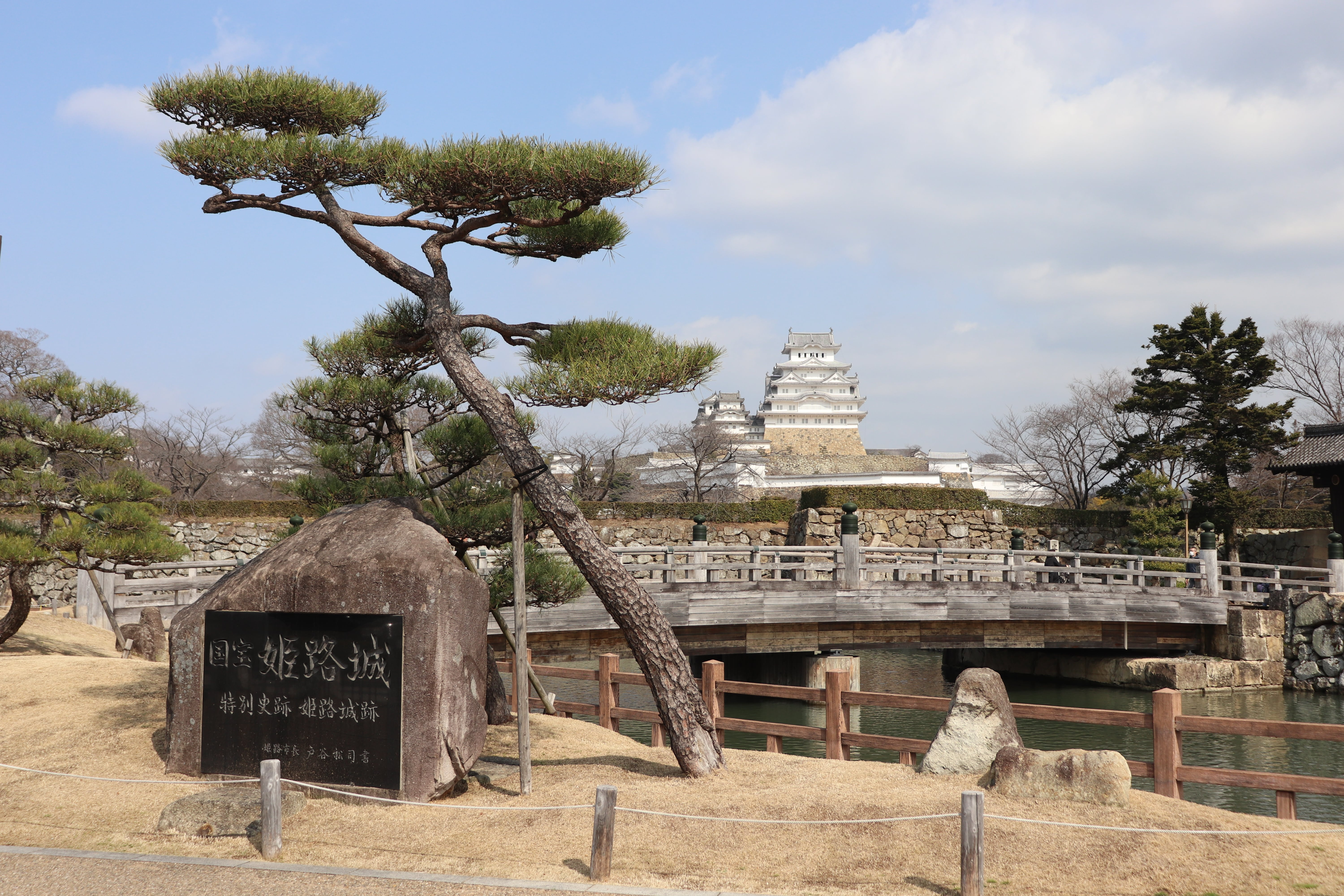 view of himeji castle from afar