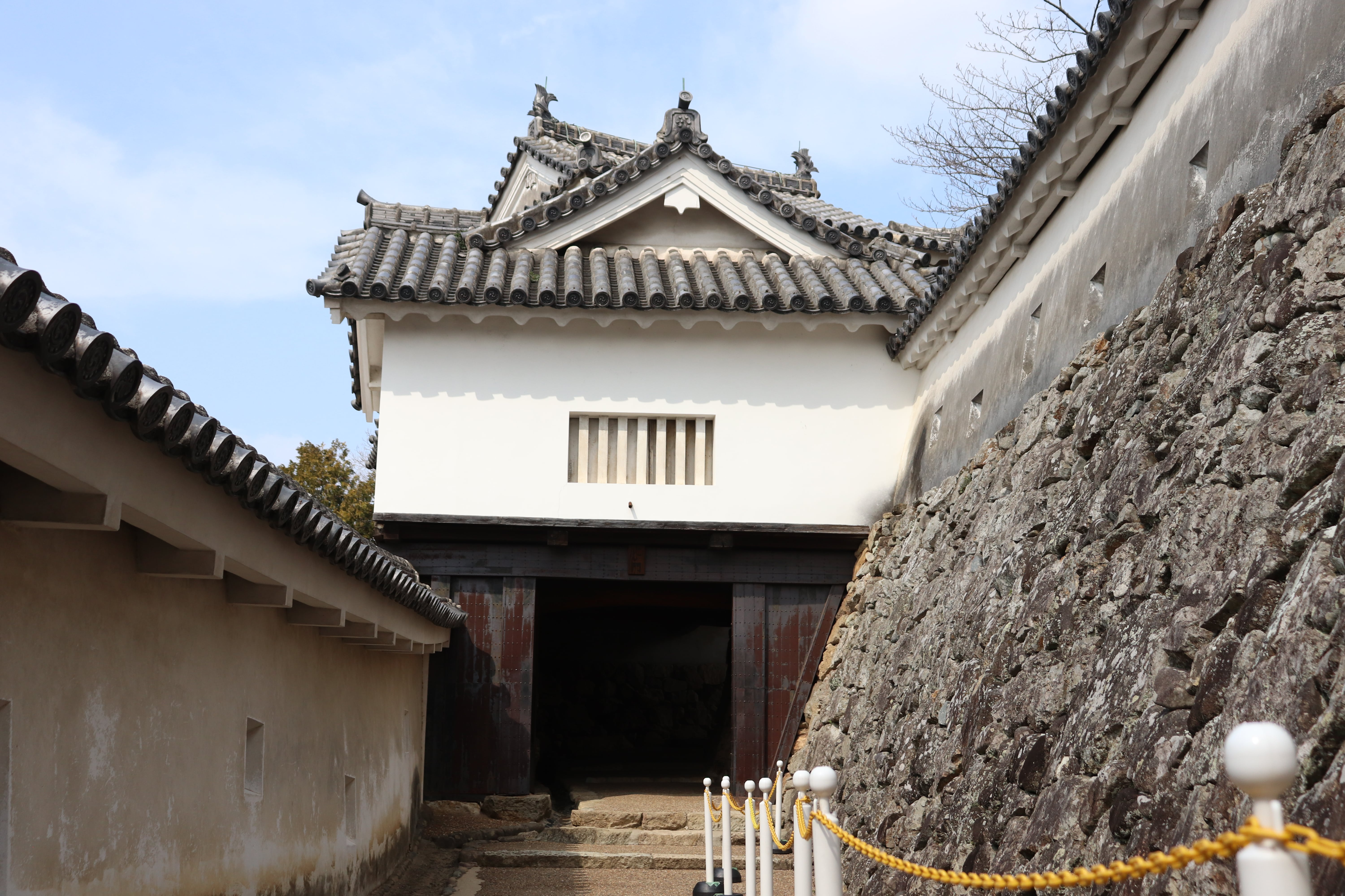 low gate at himeji castle