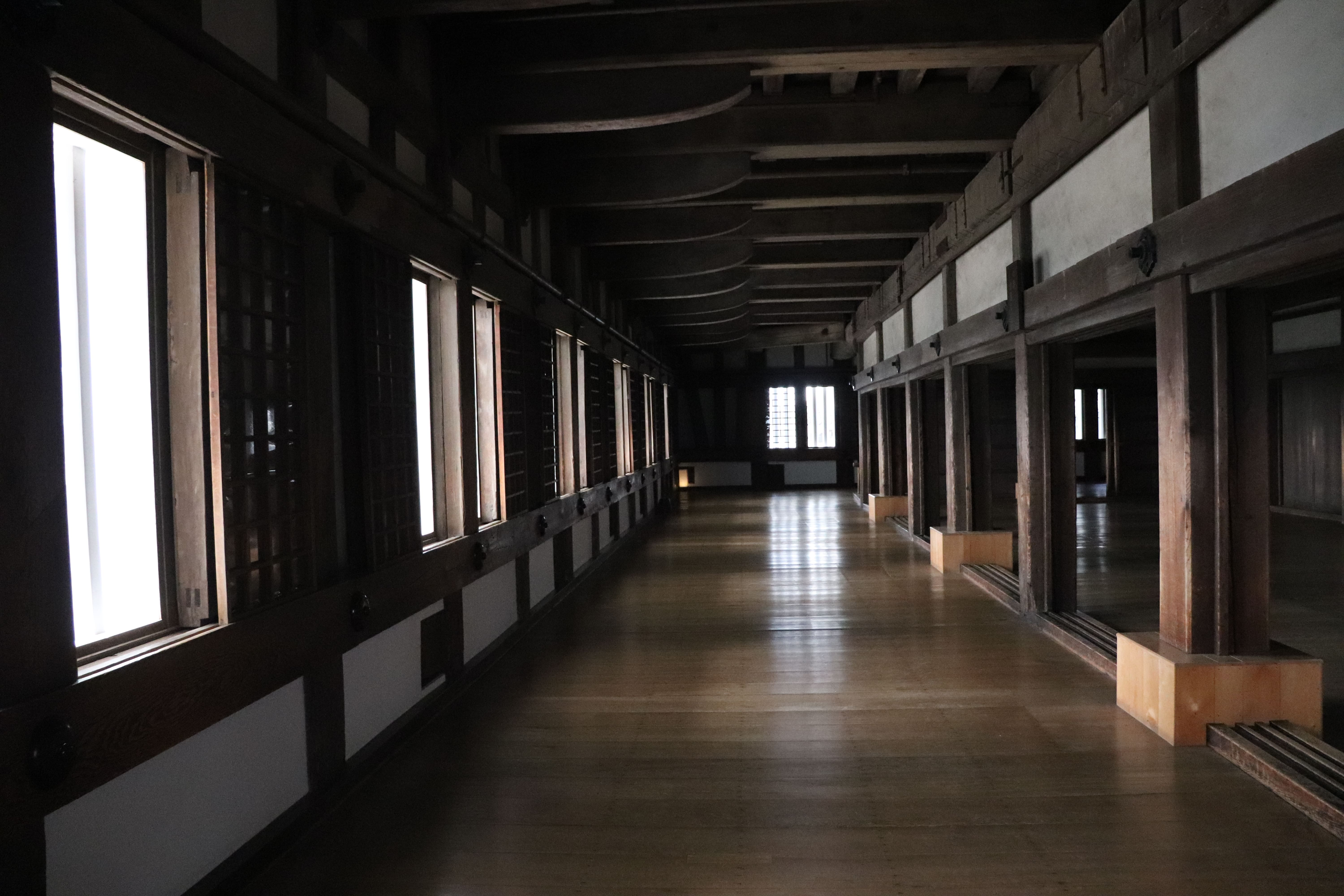 on the first floor of himeji castle