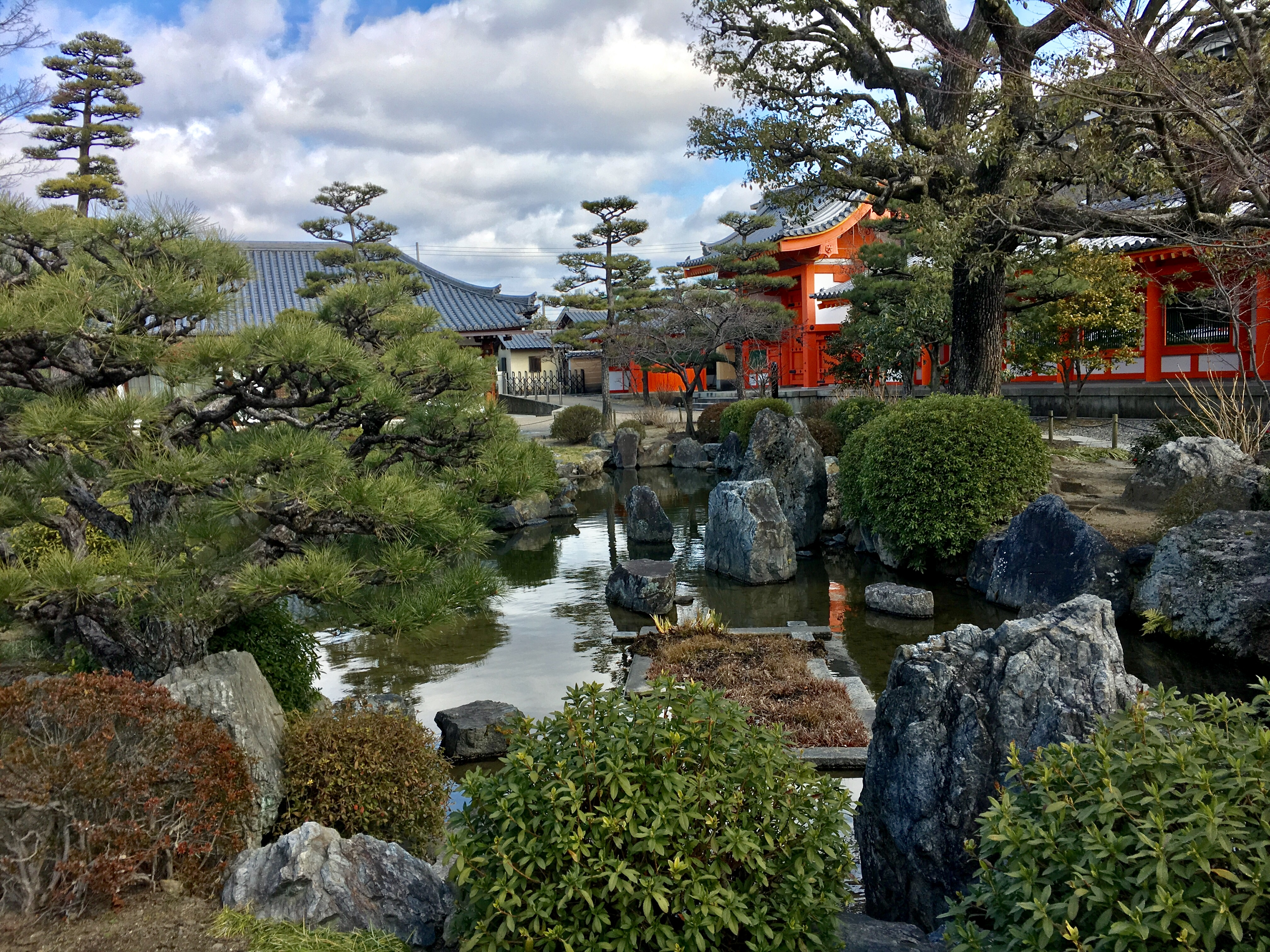 small garden in the temple grounds of Sanjusangen-do in Kyoto