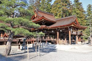 main building of taga taisha in Shiga