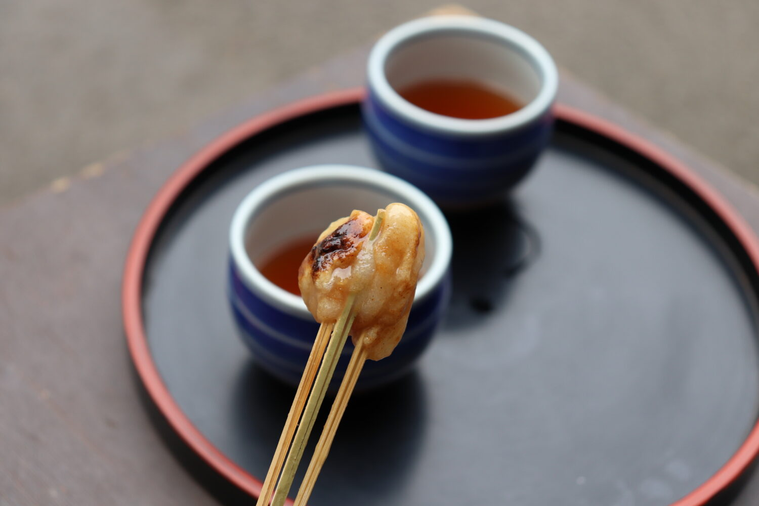 Aburi mochi at Imamiya Shrine in Kyoto