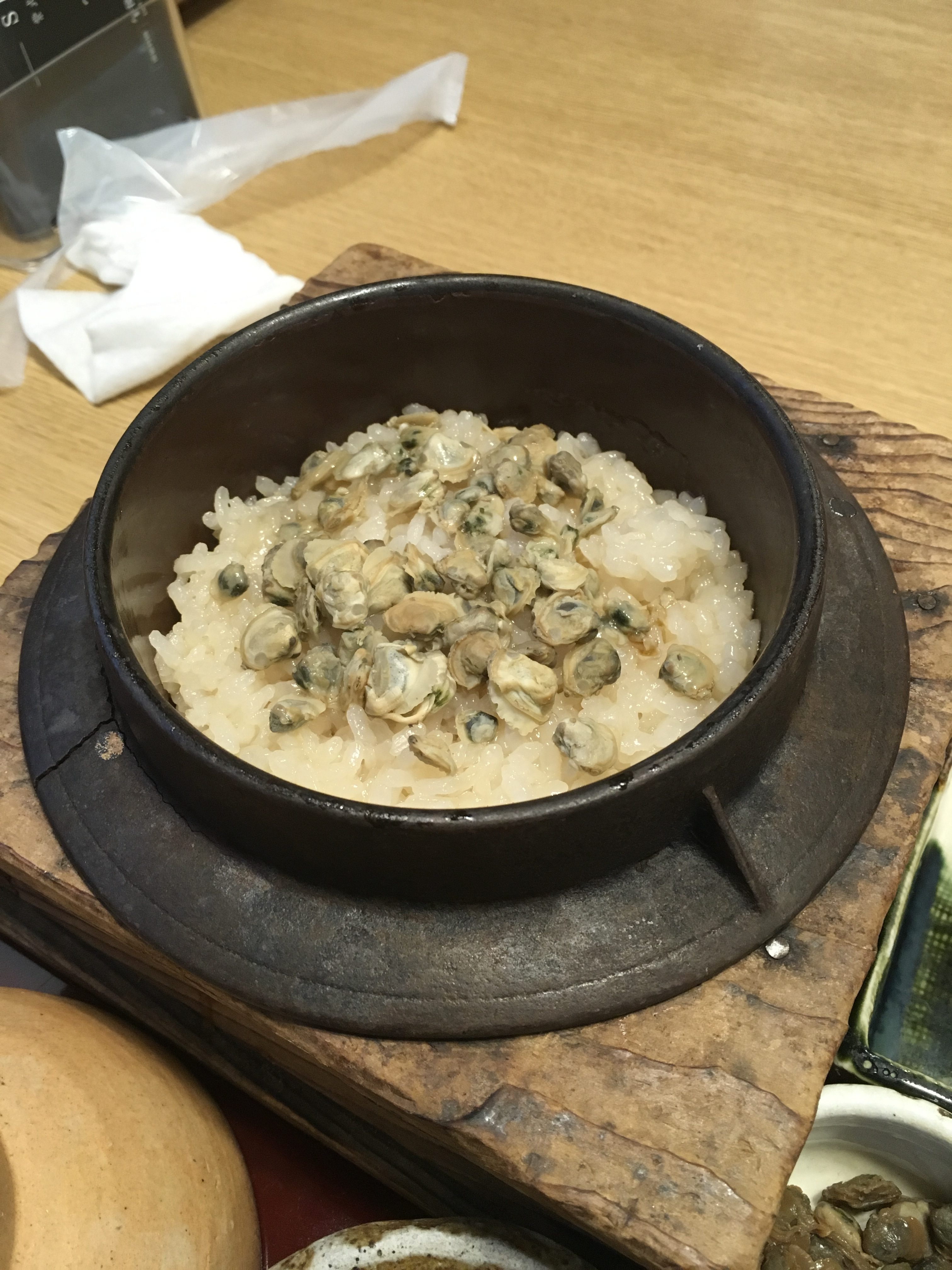 clam and rice dish from Koshu in Shiga Japan