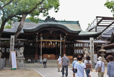main shrine building of Ishikiri Shrine