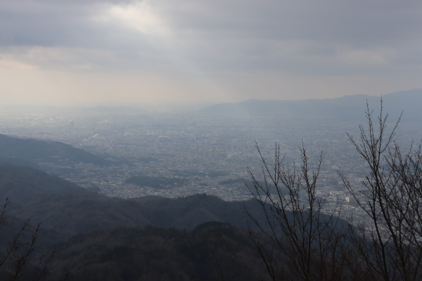 Mt.Hiei observation point on the Higashiyama Course