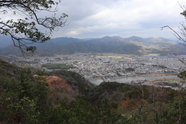Top of Mt.Matsunoyama on the Nishiyama Course