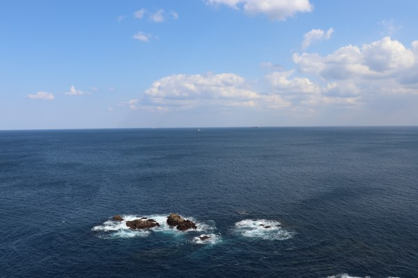 View of the Pacific from the Kashinozaki Lighthouse